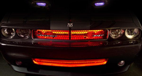 Led car accent lights weatherproof wfls light strips in the grille led car accent lights weatherproof wfls light strips in the grille of a challenger aloadofball Image collections