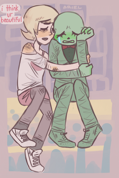 Calliope and Roxy by GhostlyStatic on deviantART. This is just. CUTE.