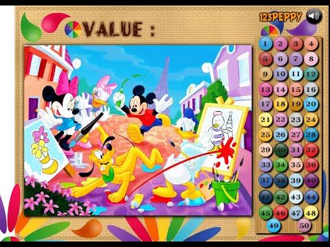 mickey mouse and friends painting color math game mickey mouse coloring games - Mickey Mouse Colouring Games
