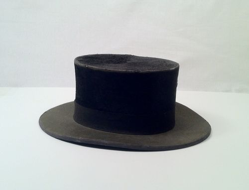 73c3a003ce2 Antique 1910s Men s Black Top Hat by Christy s of London