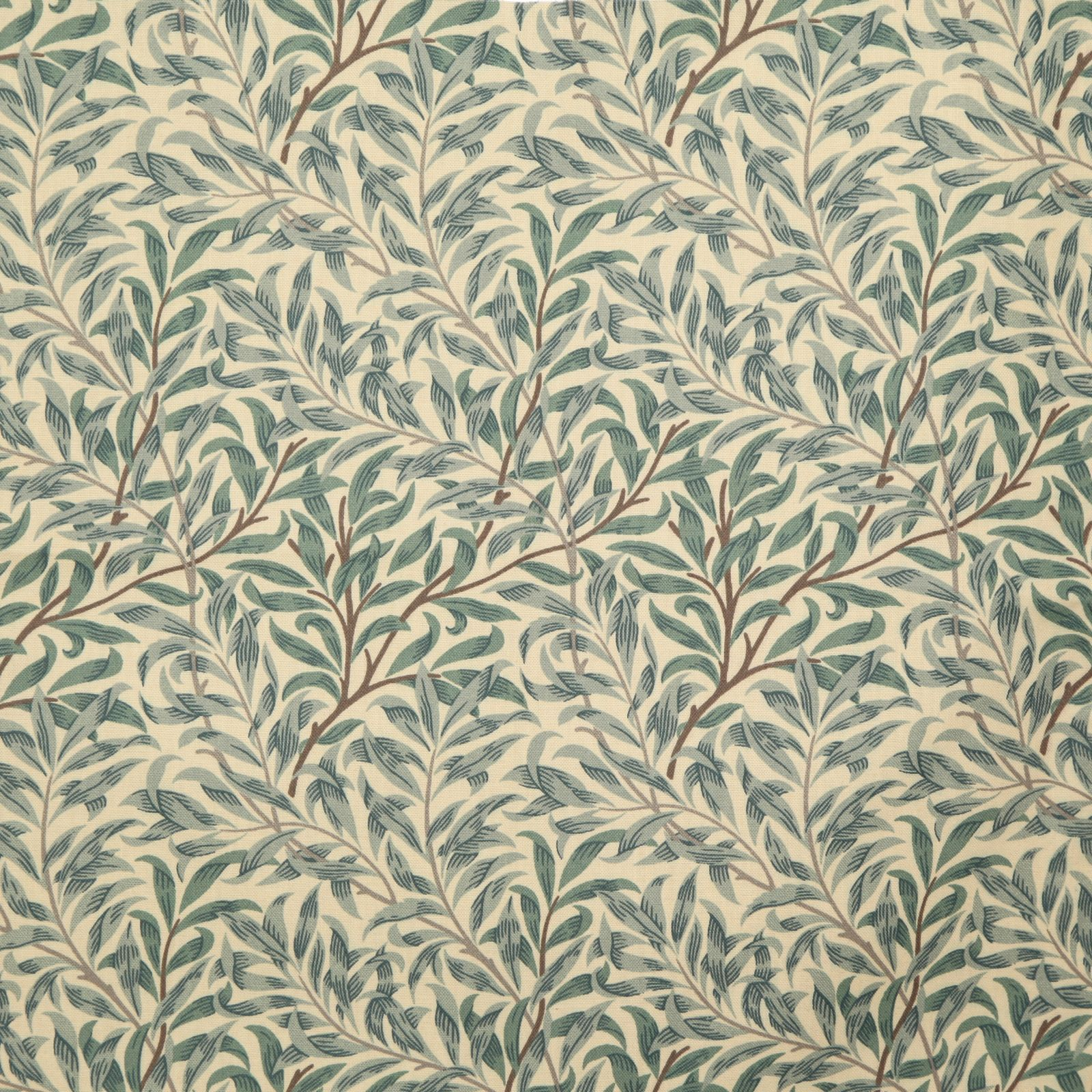 Sandersons william morris willow bough green curtain for Curtain fabric