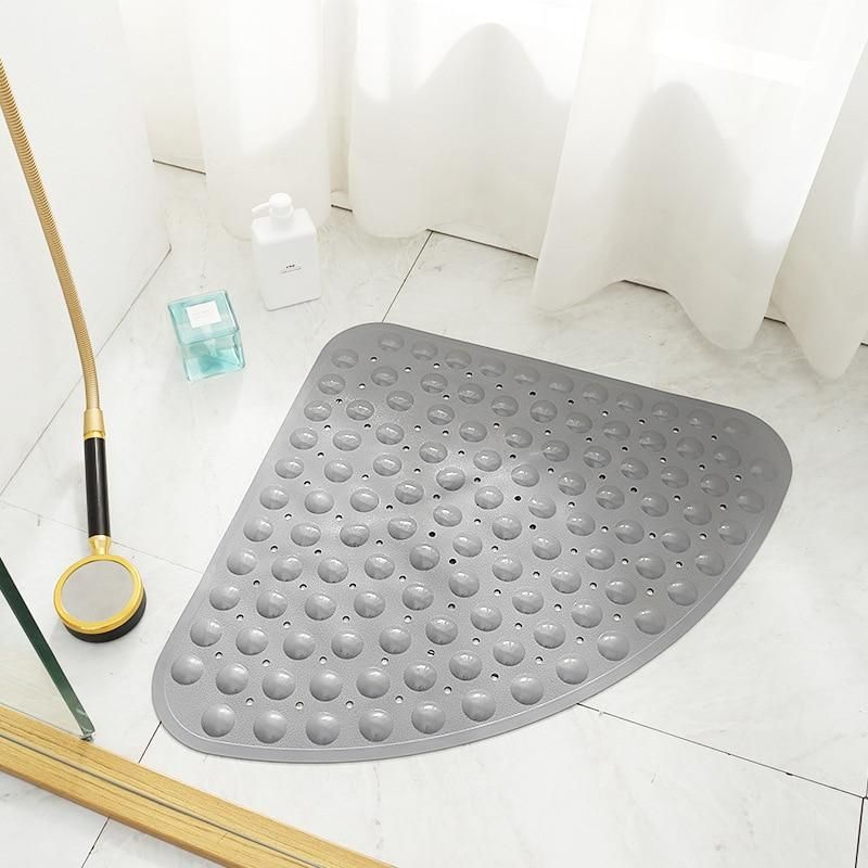 54cm Anti Slip Bath Mat Rubber Suction Shower Mat Foot Massage Pad