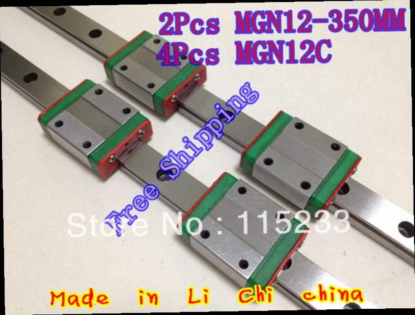 85.00$  Watch here - http://ali2nf.worldwells.pw/go.php?t=832241601 - Free shipping 12mm square linear guide 2pcs MGN12 - 350mm with 4pcs linear blocks MGN12C 85.00$