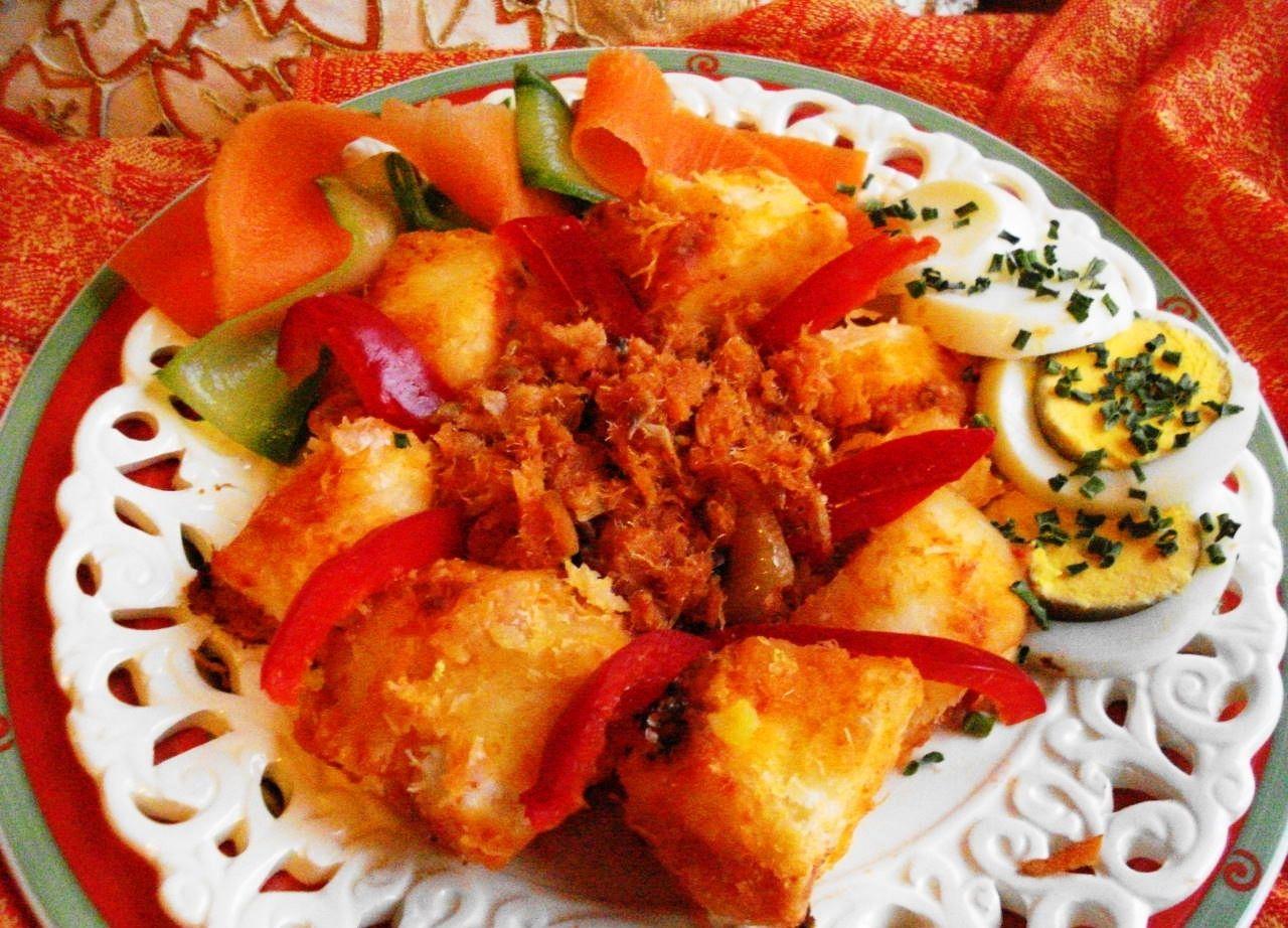 Telo (cassave met bakkeljauw)