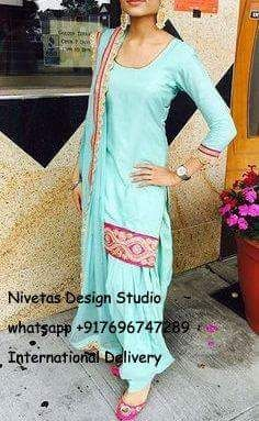 whatsapp +917696747289 International Delivery visit us at https://www.facebook.com/punjabisboutique We do custom suits to match your requirements. Punjabi salwar suit We can work together to create stunning punjabi salwar suits especially to match wedding colors, dazzle for a party or any other special occassions. I will create a custom order for you based on your requirements. #plazoSuits #punjabisalwarsuits #longSuits #suits #chooridarsuits #partywearSuits #DesiSuits