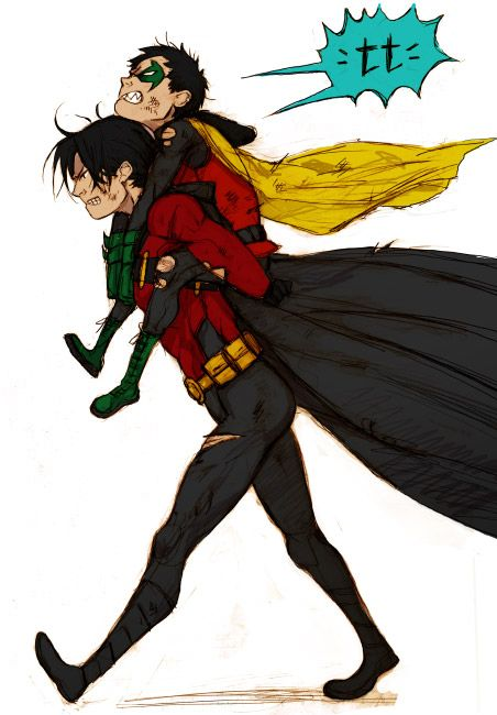 This is the last time I'm dragging your butt out of battle Damian!!