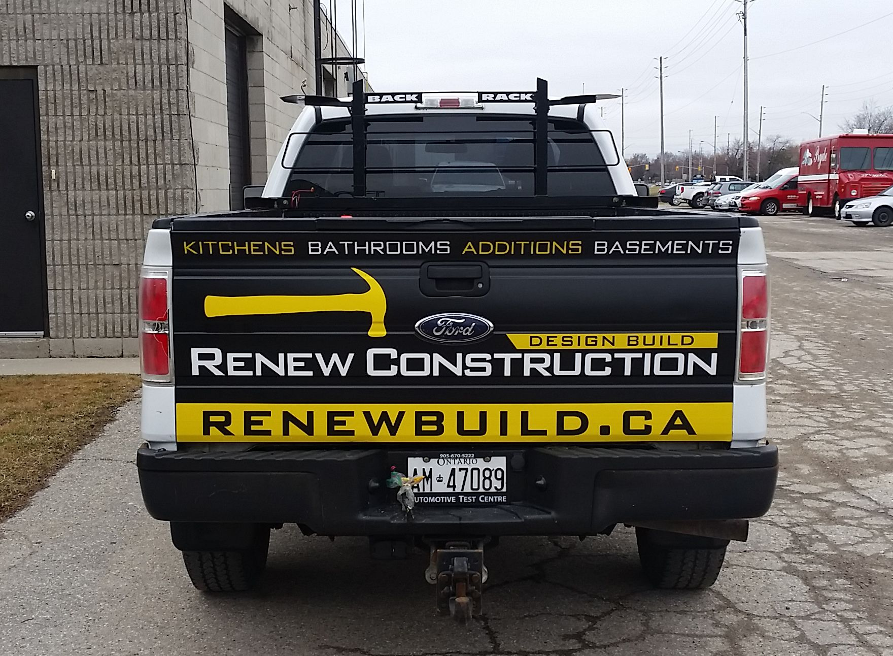 The renew construction truck is an existing client of speedpro imaging london they wrapped the constructionletteringvehicle