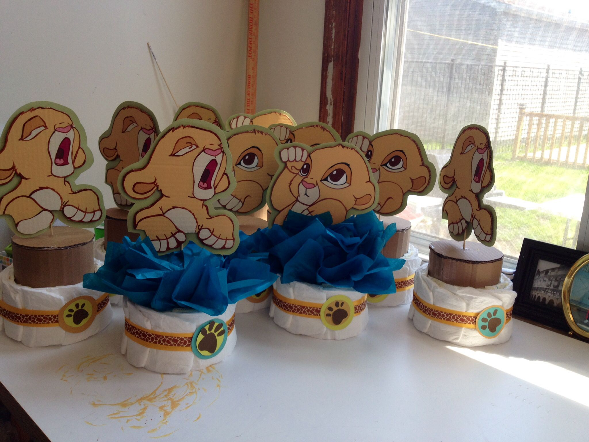 baby simba centerpieces the lion king by delabhe baby shower baby boy