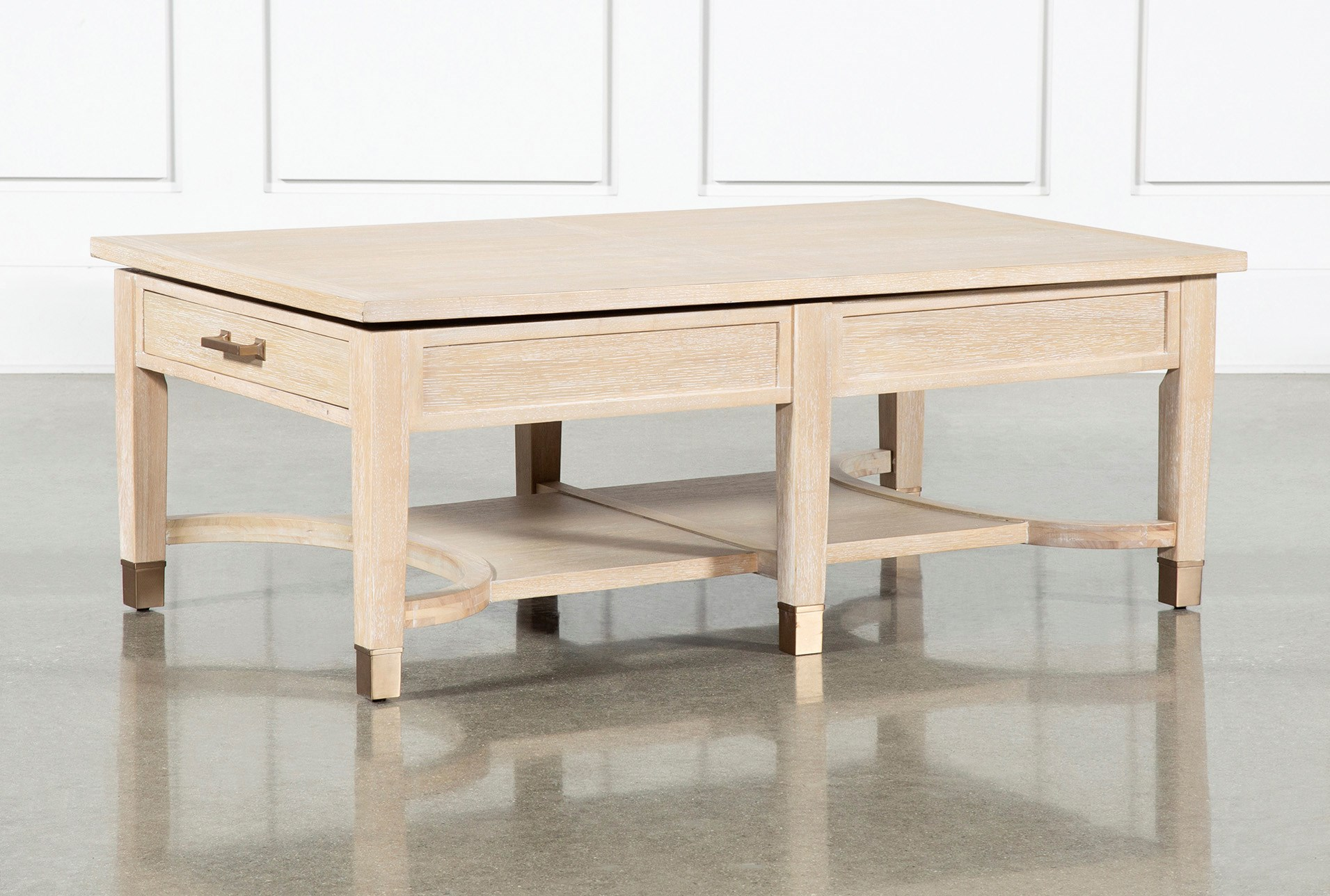 A Balance Of Form And Function The Gramercy Cocktail Table From Nate And Jeremiah Lifts Inspiration Coffee Table With Storage Coffee Table Living Room Designs #two #coffee #tables #living #room