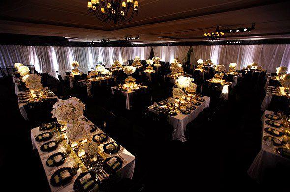 Deco mariage noir et blanc salle , salle noire mariage idee