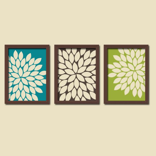 Wall Art Canvas Or Prints Green Turquoise Bedroom Pictures Turquoise Brown Bathroom Artwork