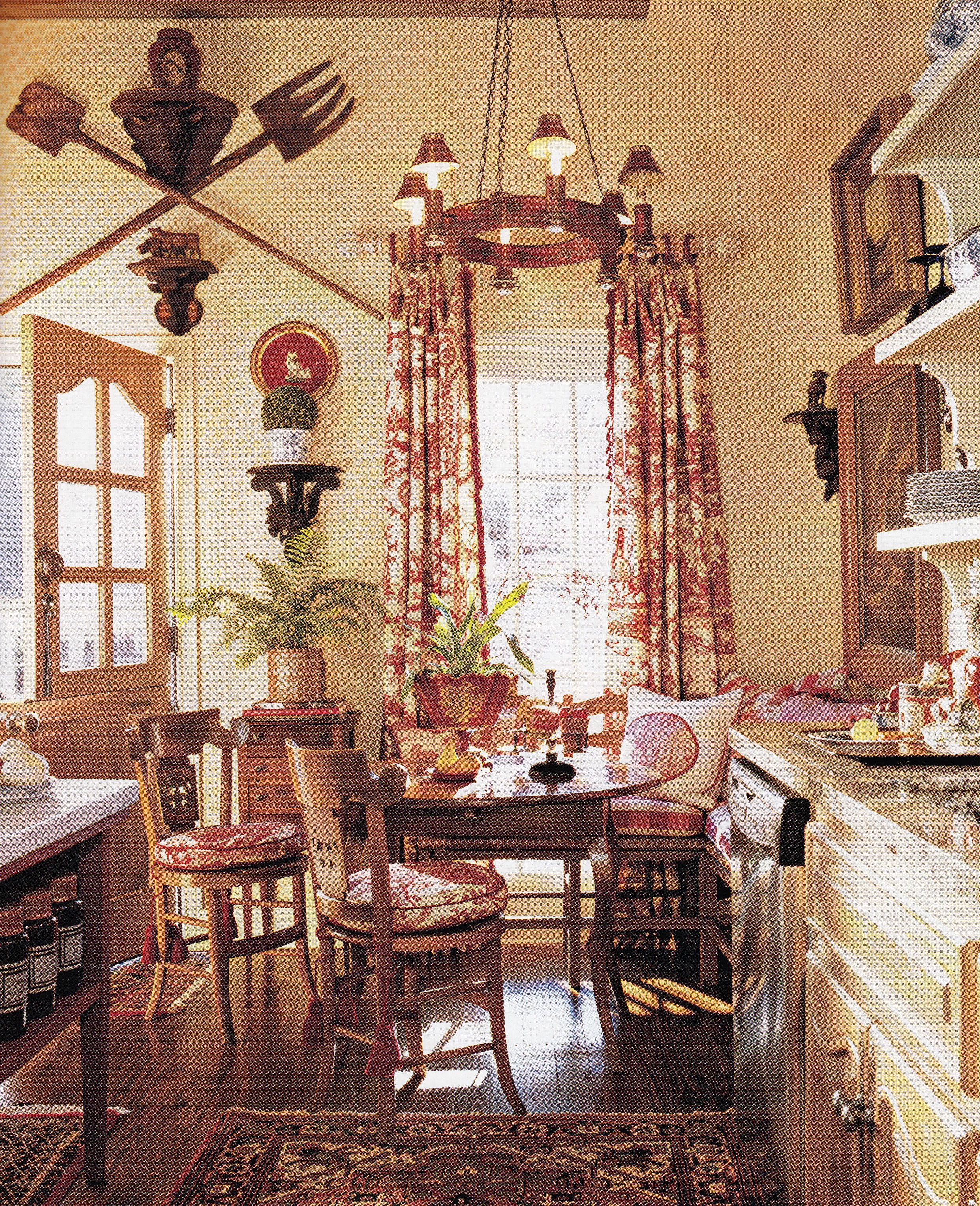 Country Cottage Style Dining Rooms: Kitchen Dining. Traditional Home May