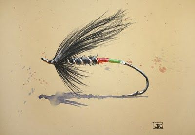 Fly Fishing Watercolor Print Fly Art Fly Painting By Dean