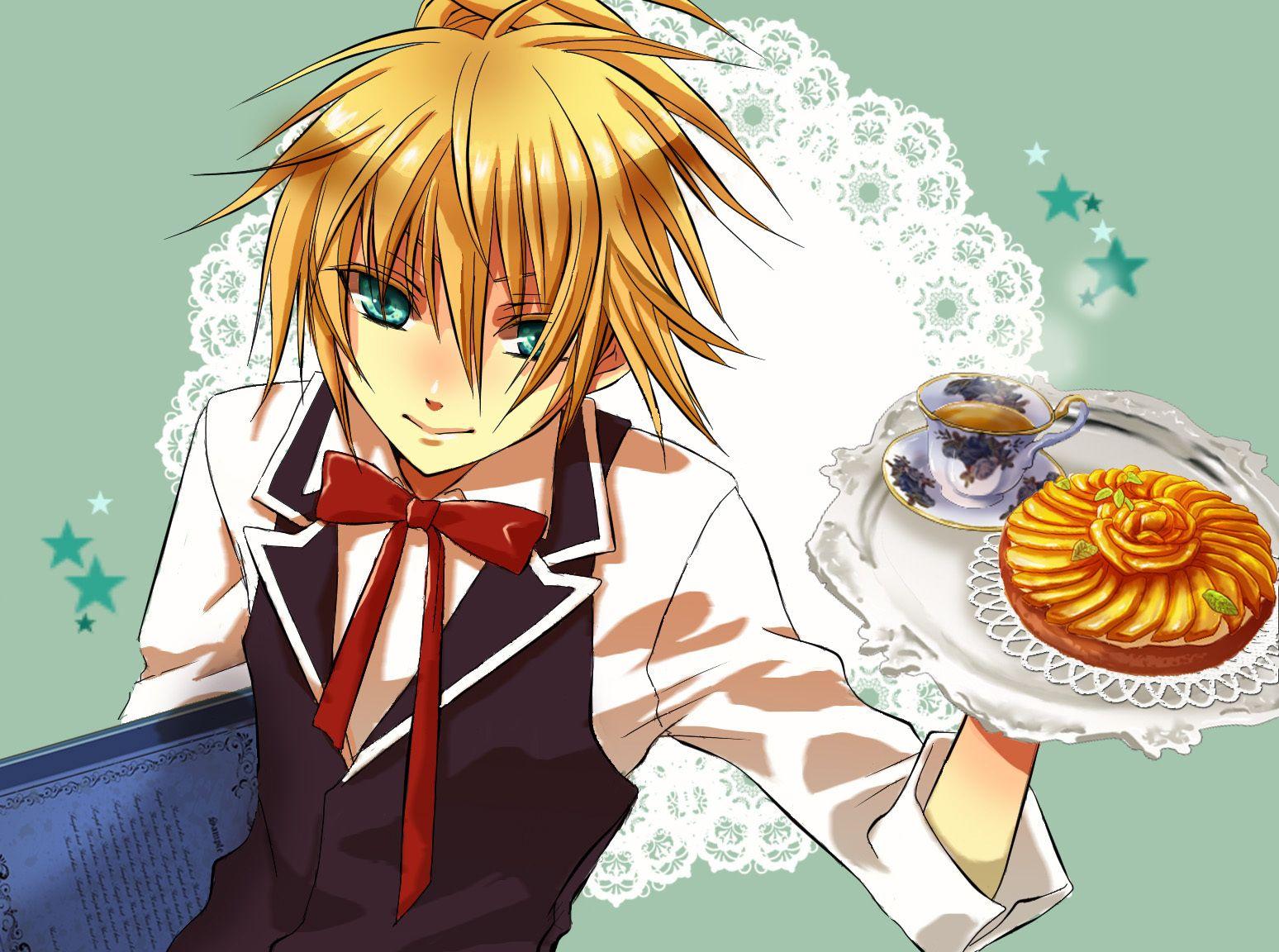 Len as a waiter Anime, Anime guys, Vocaloid