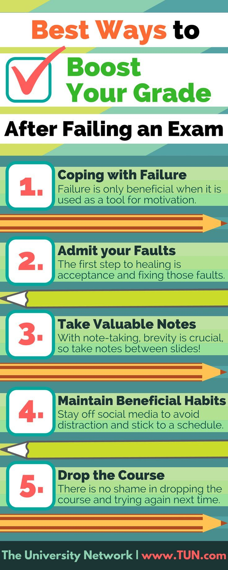 Don't worry if you failed an exam; you can grow from this. There are many simple ways to get your grades back on track, if you set your mind to it. Here are five steps to boost your grade after failing an exam.
