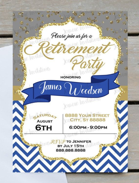Retirement Party Invitations 50th 60th 70th Birthday Retirement