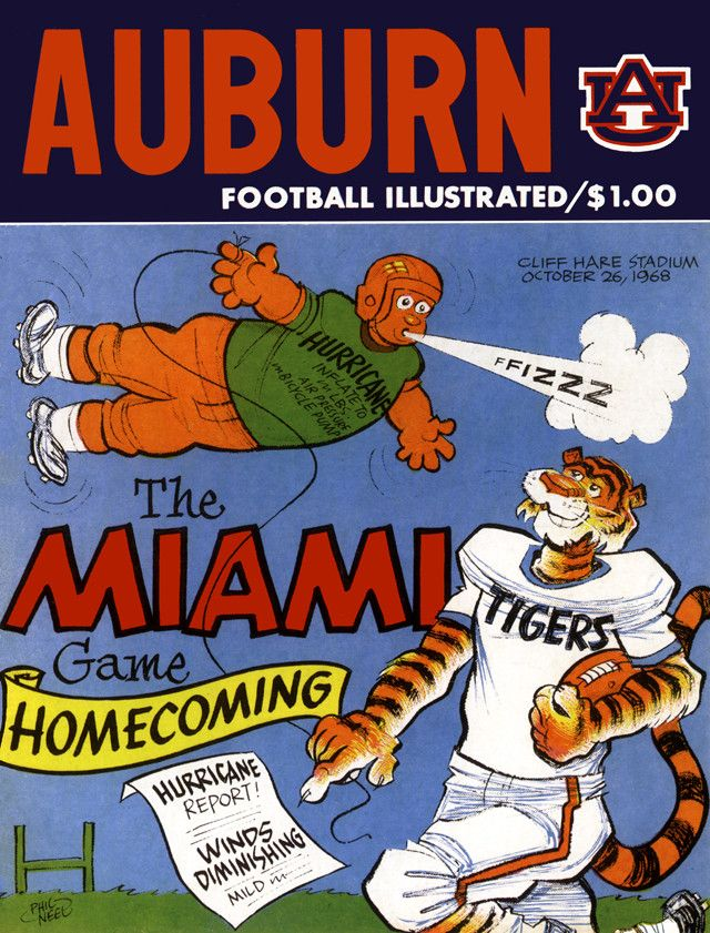 In Miami and Auburn's 1968 duel at Auburn, the final score