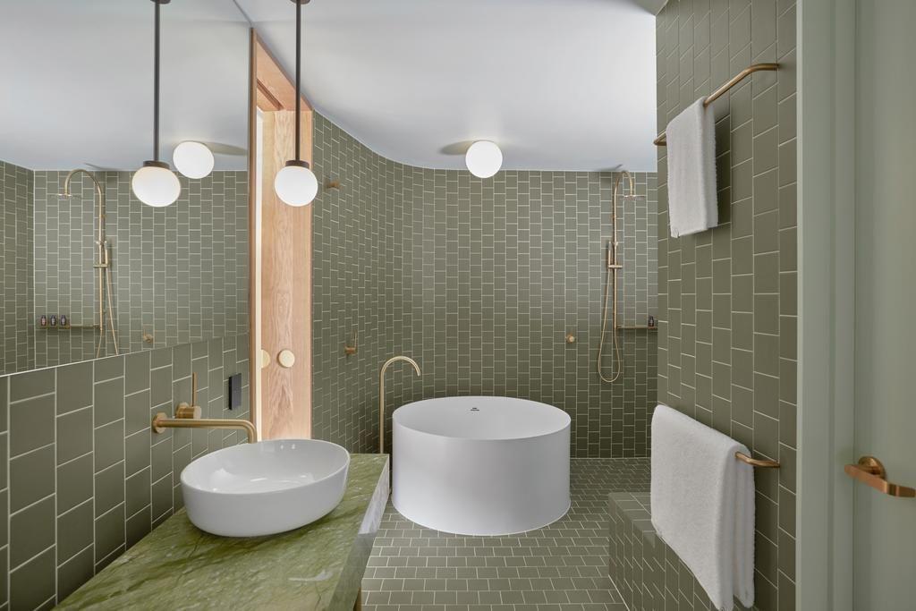 The Calile Hotel Bathroom Luxury Bathroom Open Bathroom