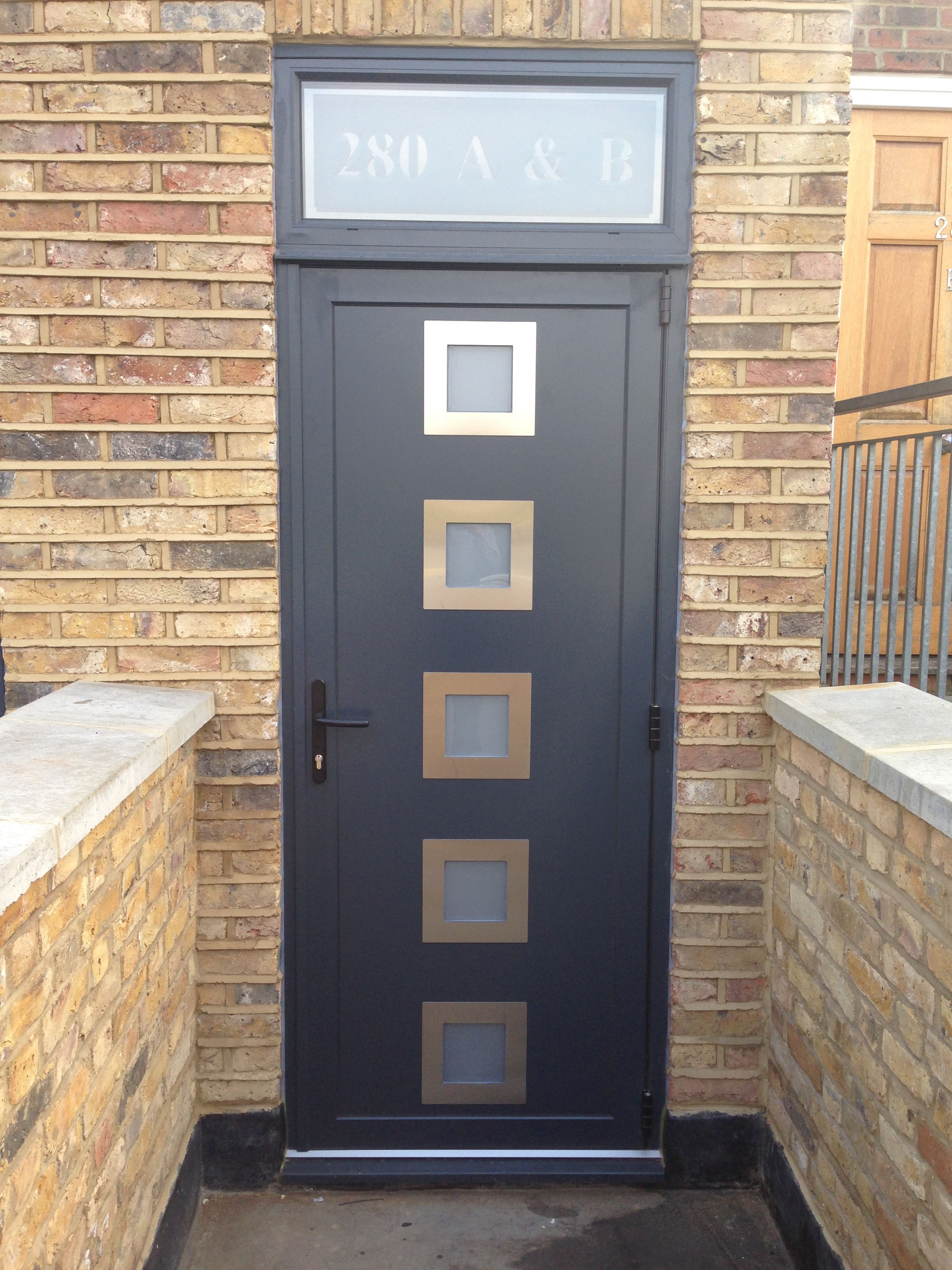Front aluminium door bespoke manufactured to required dimensions and finished with a powder coating in & Front aluminium door bespoke manufactured to required dimensions ...