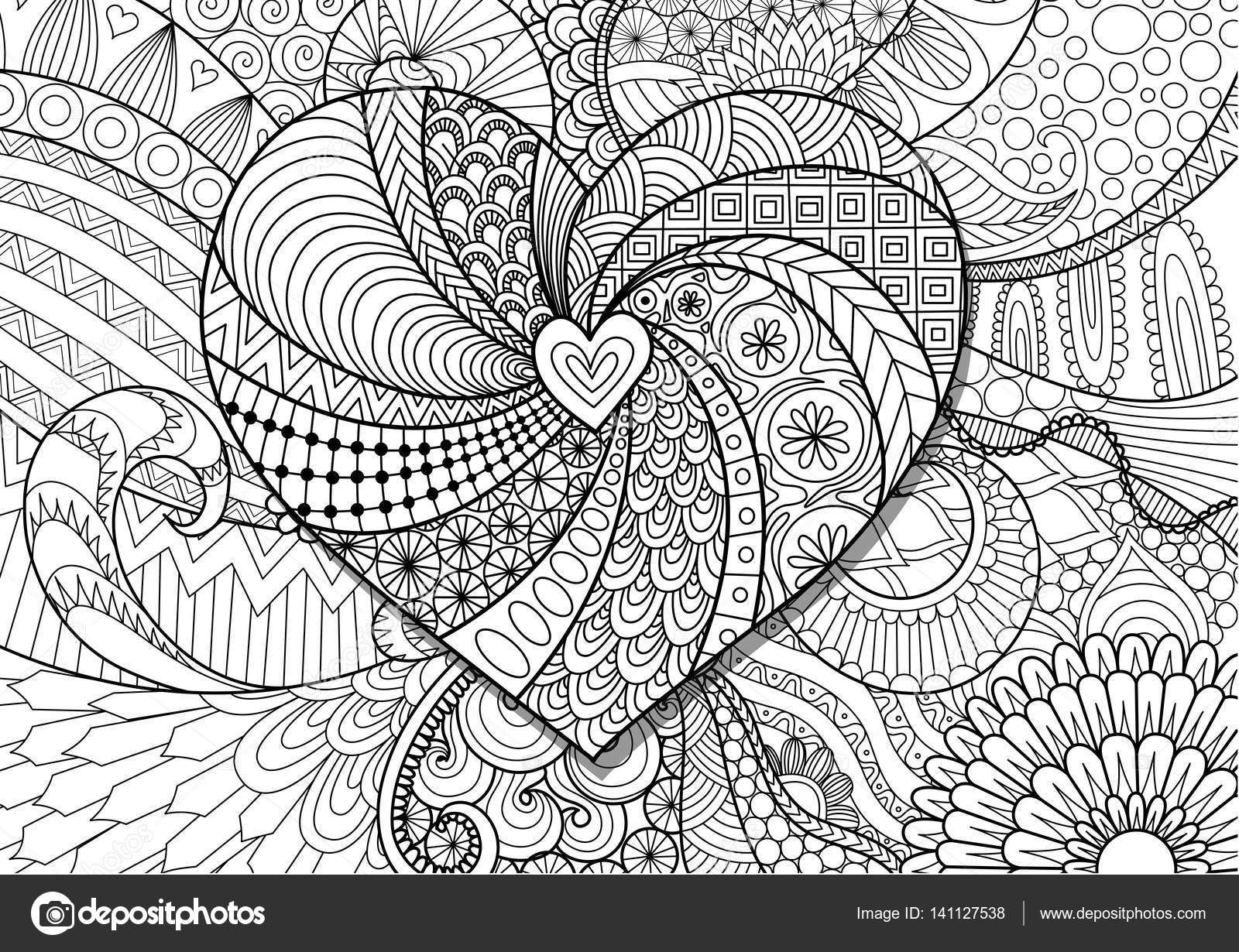 Kalp Boyama Kitabi Sayfalari Sevgililer Gunu Karti Ve Dugun Davetiyesi Yetiskin Icin Cic Love Coloring Pages Adult Coloring Mandalas Adult Coloring Book Pages