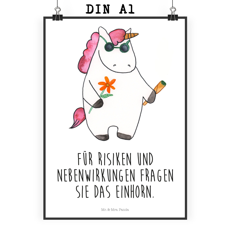 Poster DIN A1 Einhorn Woodstock aus Papier 160 Gramm weiß ...