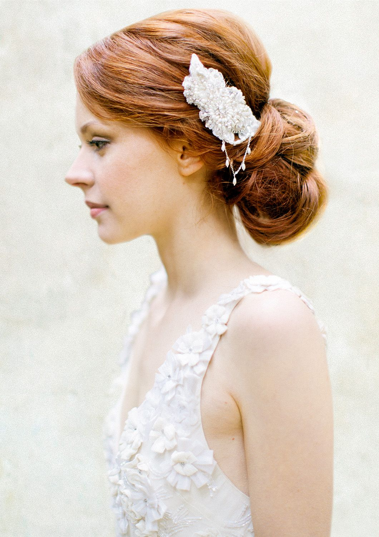 Pearl & Crystal Bridal Hair comb - © SIBO Designs   Hair accessories ...