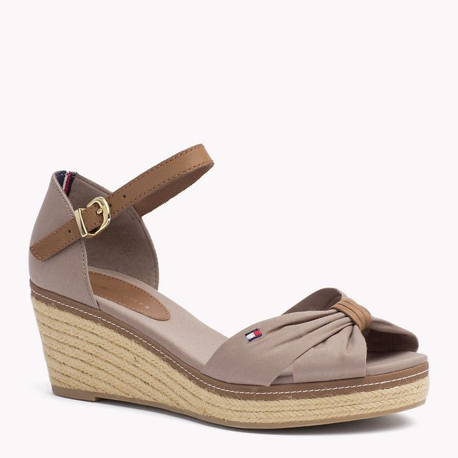 41c03a0e1 Tommy Hilfiger Mixed Wedge Sandal - fungi (Brown) - Tommy Hilfiger Wedges   amp