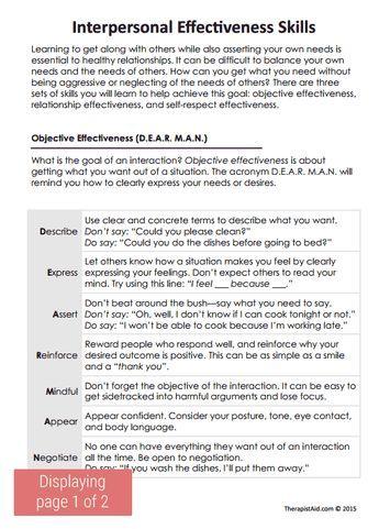 DBT Interpersonal Effectiveness Skills Preview | Coaching ...