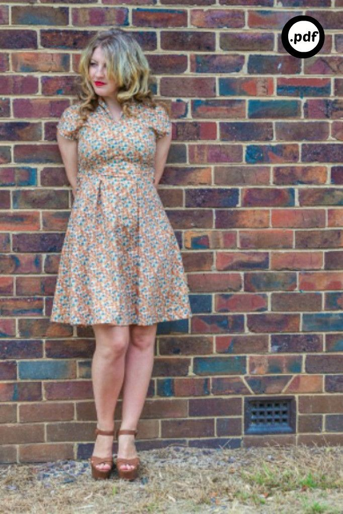 The Winifred dress - PDF PATTERN @Amy Lyons Timchur @Alison Hobbs ...