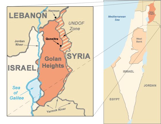 Map the golan heights israeli palestinian conflict procon map the golan heights israeli palestinian conflict procon gumiabroncs Gallery