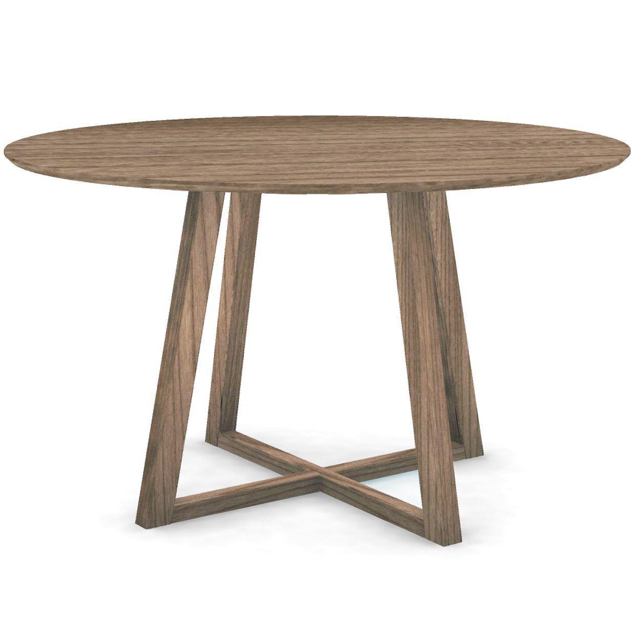 Calvin Klein Clarkson Round Dining Table Brown Walnut