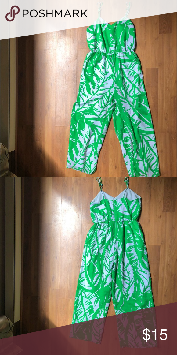 07d40001752 Lilly Pulitzer for TARGET - Jumpsuit White and green tropical jumpsuit  Lilly Pulitzer for Target Pants Jumpsuits   Rompers