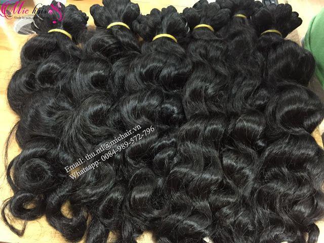 Mic Hair Thu Wavy Machine Weft Vietnamese Hair Loose Wave Machine