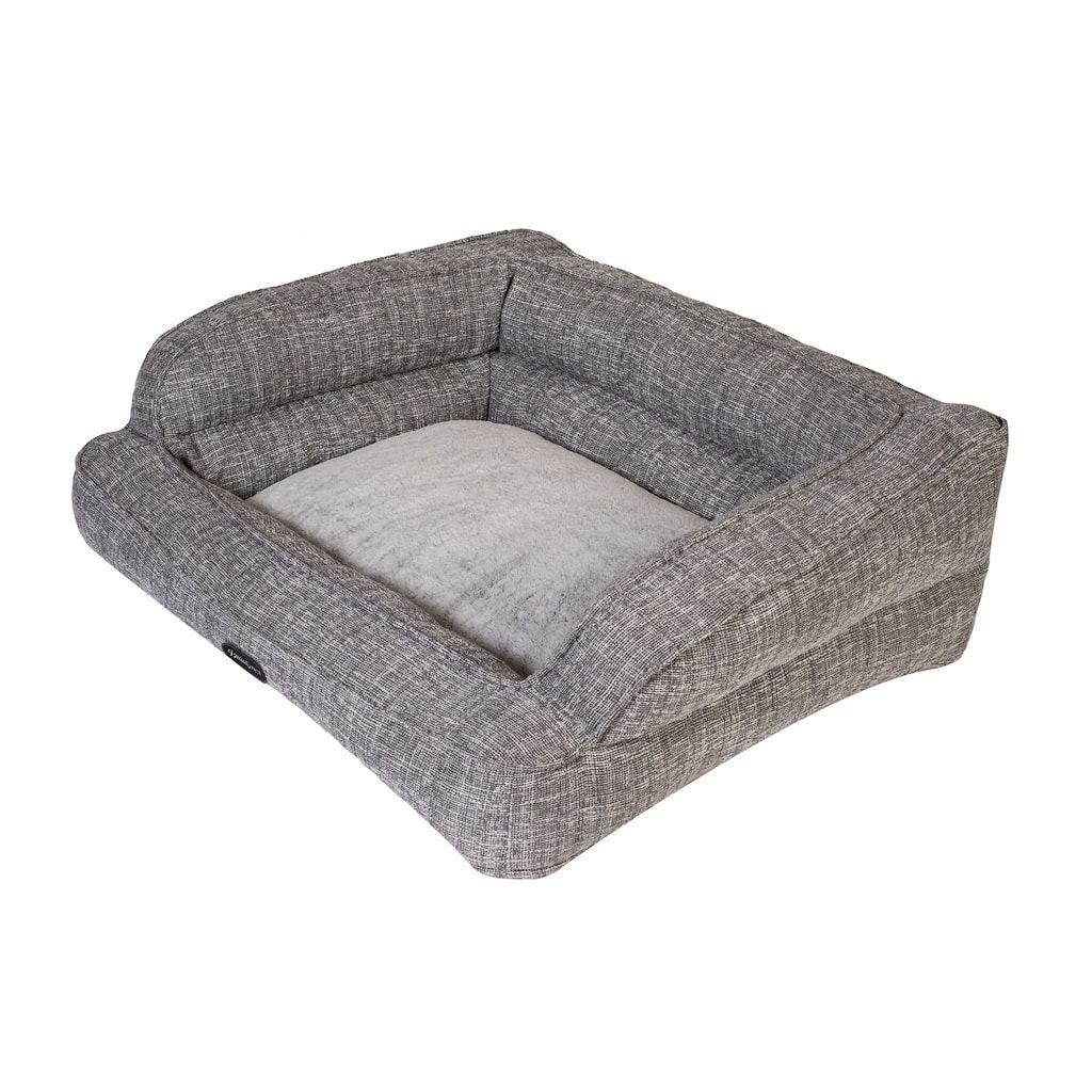 Beautyrest Comfort Lounger Pet Bed, Grey, Medium Dog