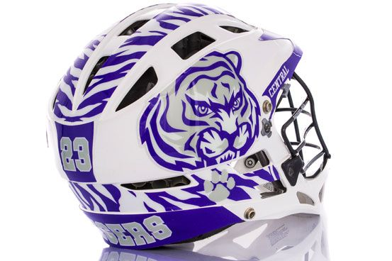 Our Hybrid Lacrosse Decal Kits Allows You To Cover Most Of Your - Motorcycle helmet decals kits