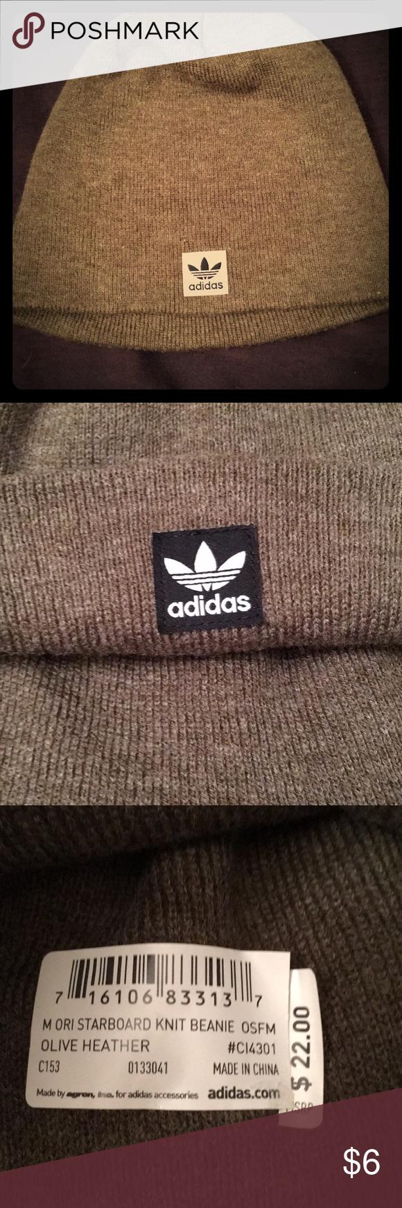 Adidas knit beanie olive NWT adidas Accessories Hats 74361e6af44e