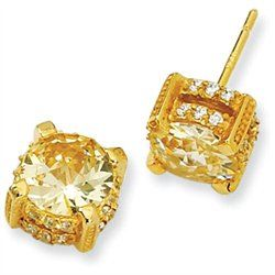 #Goldia                   #Everything ElseWholesale Lots                      #Gold-plated #Sterling #Silver #Canary #Stud #Earrings                        Gold-plated Sterling Silver 8mm Canary CZ Stud Earrings                                                 http://www.seapai.com/product.aspx?PID=7732238