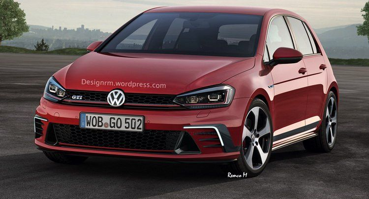 2017 Vw Golf Golf Gti Rendered As Facelifted Models Vw Golf