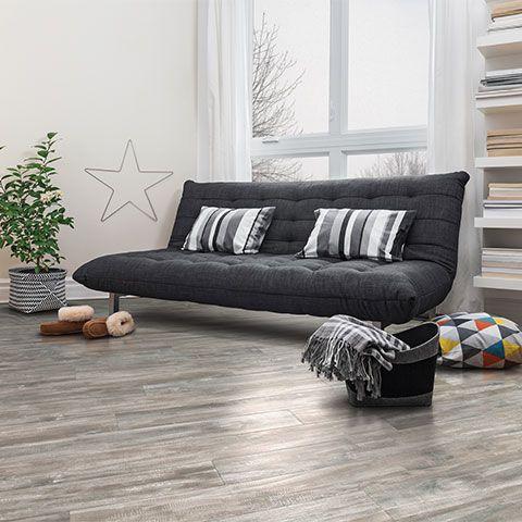 Seabrook Walnut Semi Gloss Laminate Floor Grey Walnut Wood Finish 10mm 1 Strip Plank Laminate Floorin Living Room Remodel Room Remodeling Basement Remodeling