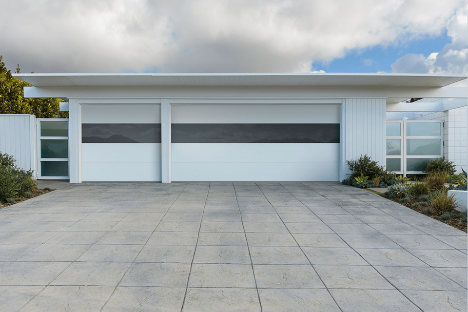 Sterling Garage Doors The Embodiment Of Minimalist Design Sterling Doors Uniquely Combine Glass And Contemporary Garage Doors Garage Doors Garage Door Styles