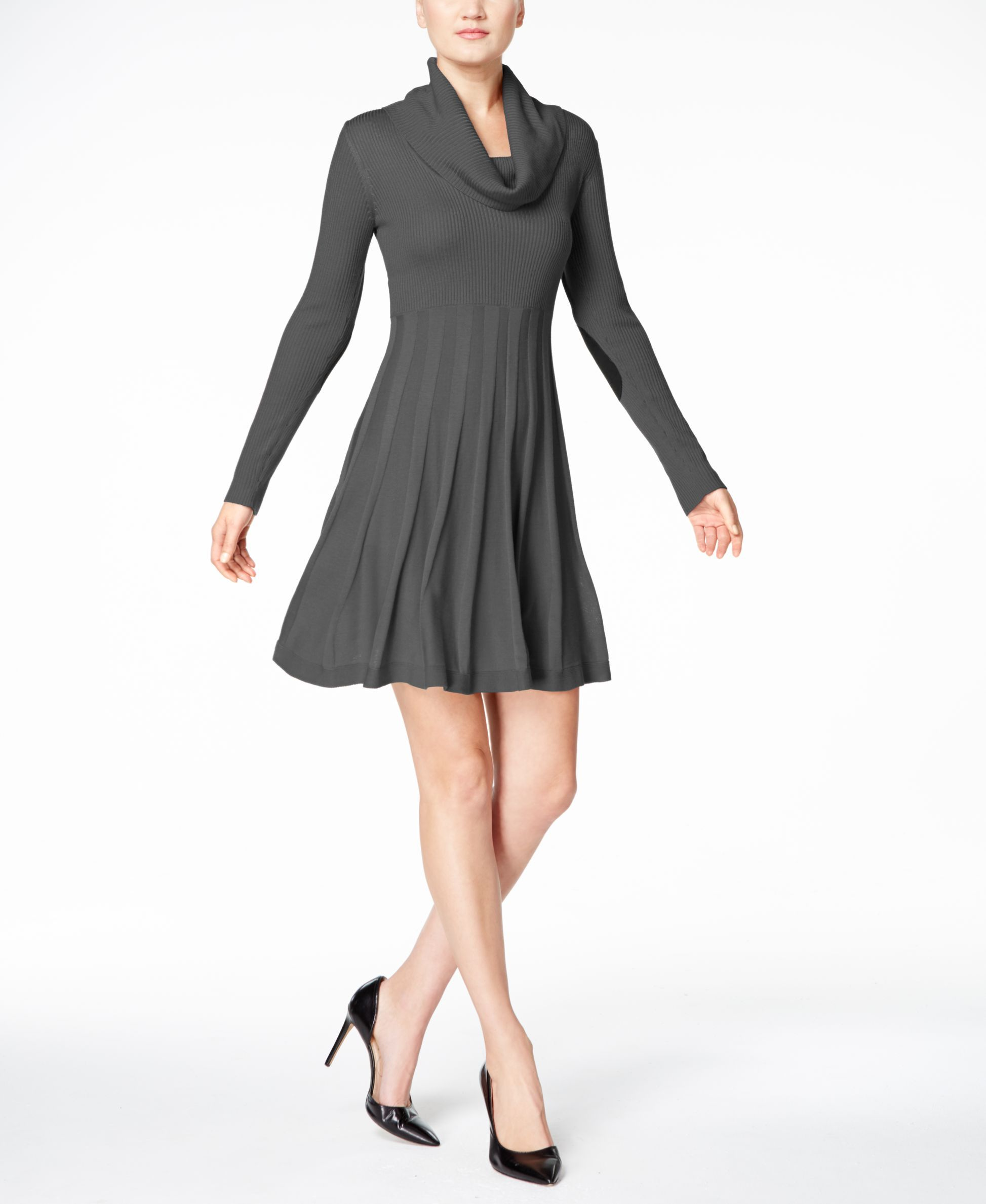 Calvin Klein Petite Cowl-Neck Sweater Dress | Products | Pinterest ...