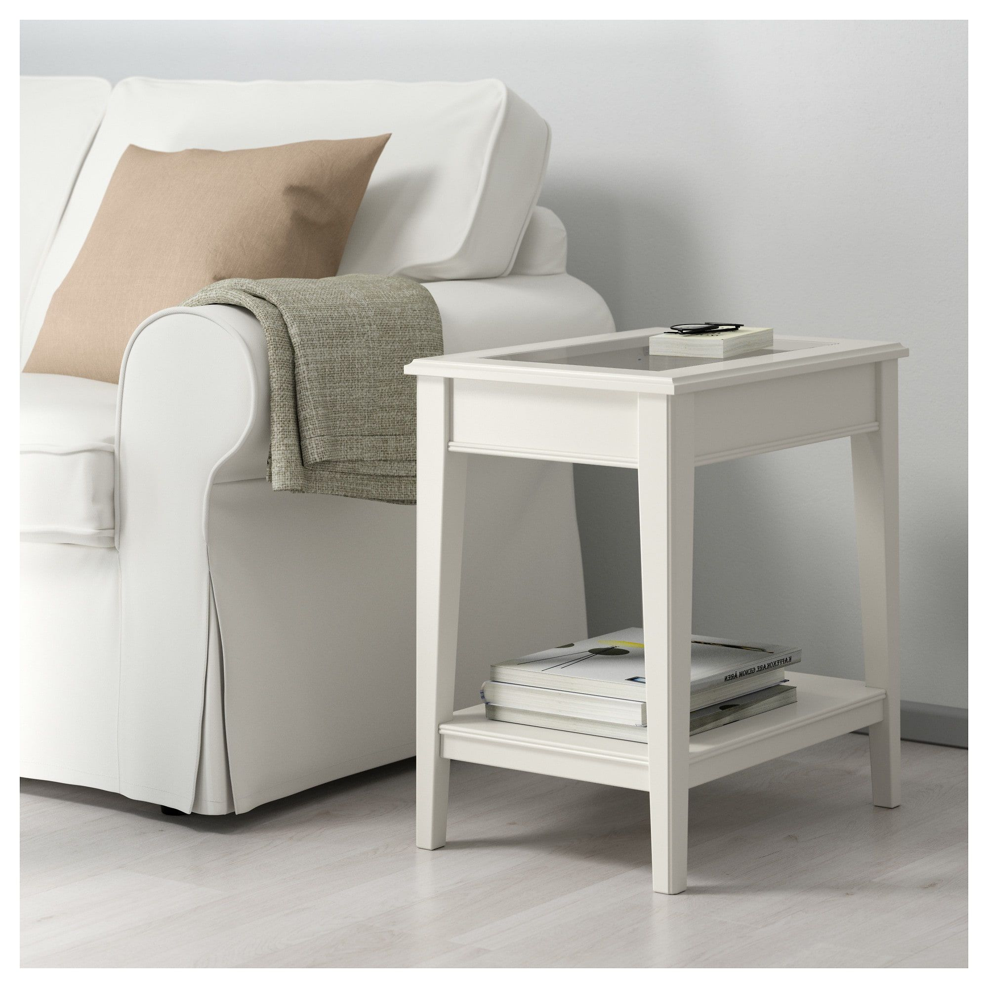 IKEA LIATORP White, Glass Side table White side tables