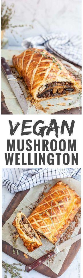 Flaky, Golden and Delicious this Vegan Mushroom Wellington is sure to take center stage at your Christmas feast. // Dieser herzhafte Pilz-Strudel wird in den Festtagen zum Star auf dem Esstisch! #enjoysiemens