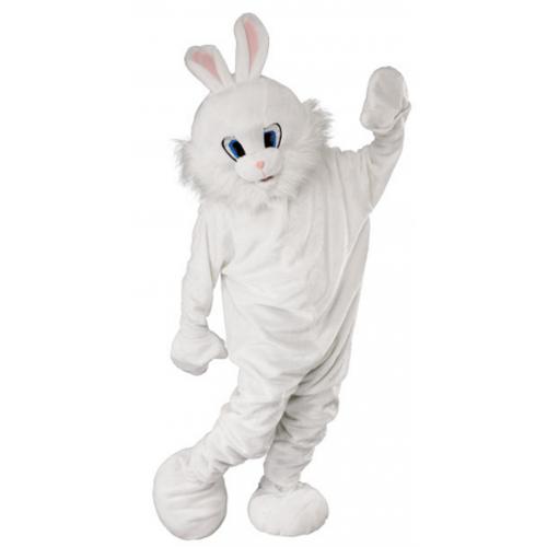 Bunny Mascot Head Rabbit Plush Mask Fancy Birthday Party Halloween Dress