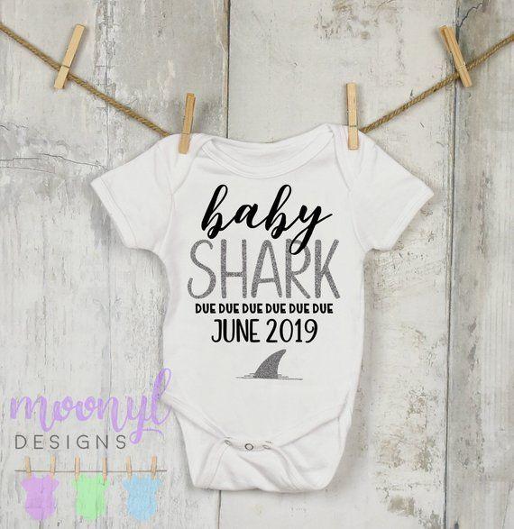 2546939c Baby Shark Doo Doo | Pregnancy Announcement Onesie® | for Grandparents |  Baby Reveal