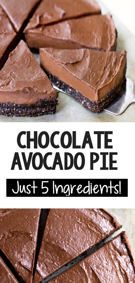 The Best Vegan Avocado Chocolate Pie Recipe