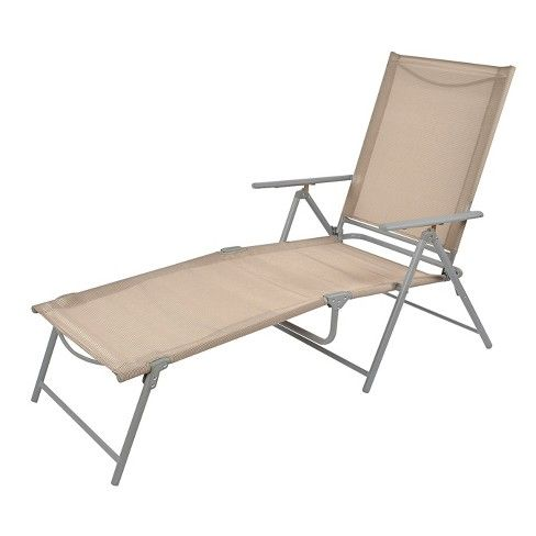Super Sling Folding Patio Lounger Tan Threshold Camping Gmtry Best Dining Table And Chair Ideas Images Gmtryco