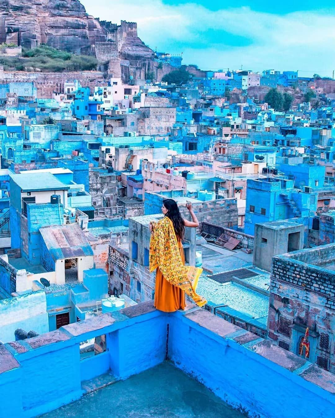 Photo By (deepthi__t) The ocean of blue houses of Jodhpur