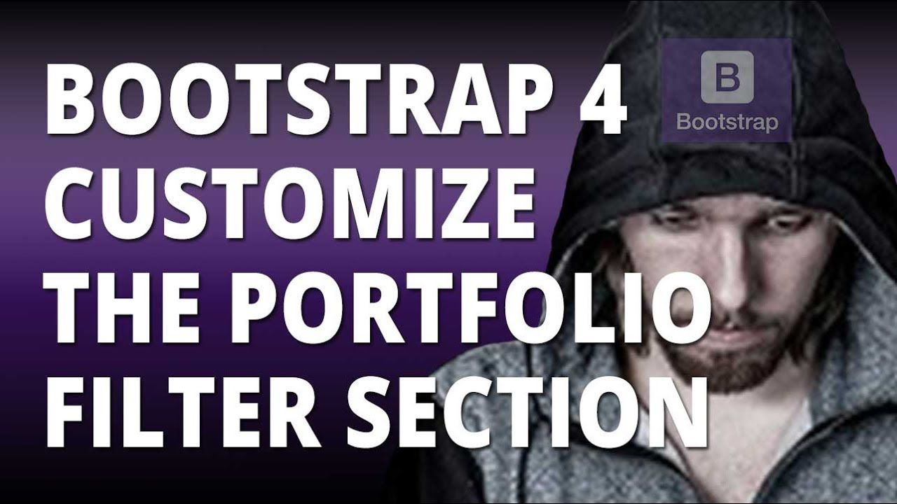 Bootstrap 4 Customize the Portfolio Filter Section | Web Design