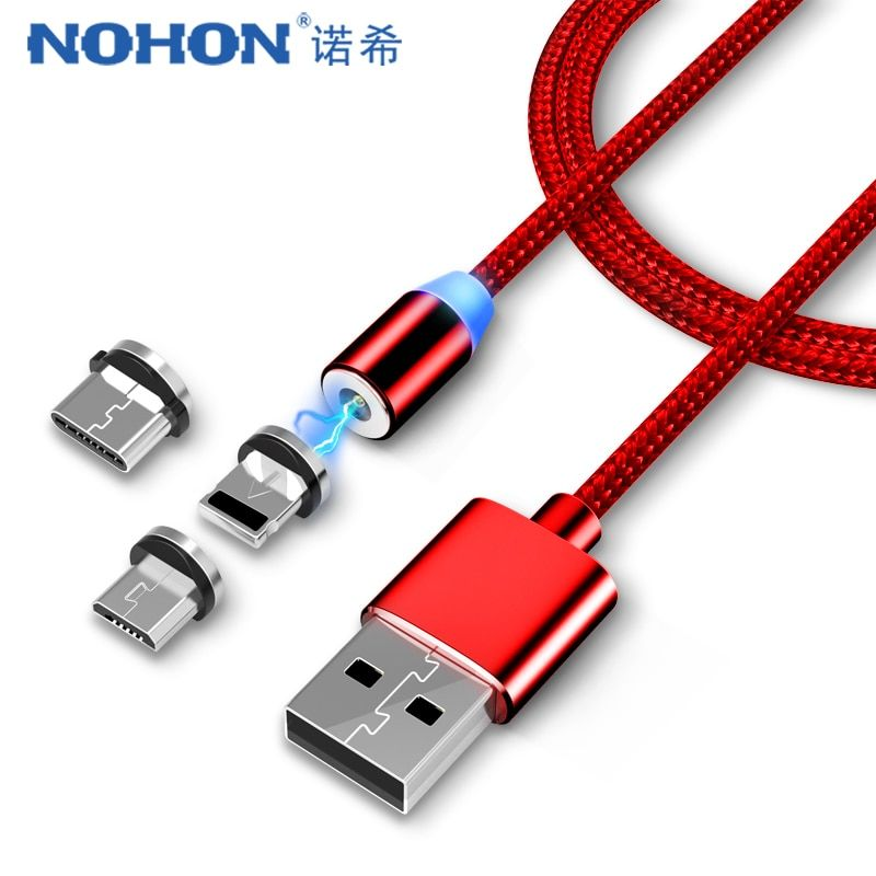 Mobile Phone Cables Olaf Led Usb Magnetic Cable For Iphone X Xr Xs Max Micro Usb Cable Type C Fast Magnetic Usb Charging Cable For Samsung S9 Xiaomi